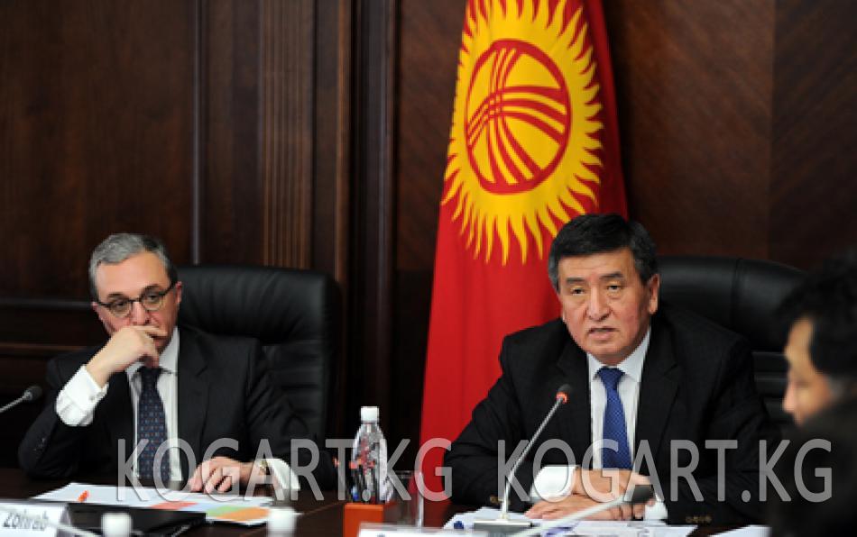 Премьер-министр Сооронбай Жээнбеков Жалал-Абад облусунда иш сапар...
