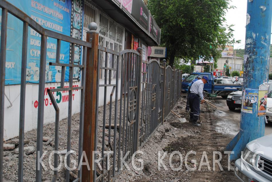 Жалал-Абад шаары ирээтке келтирилүүдө