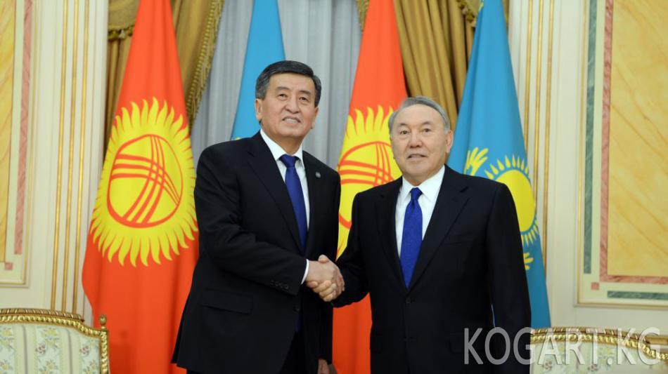 Кыргызстан менен Казакстан президенттери чек араны демаркациялоо макулдашуусуна кол коюшту