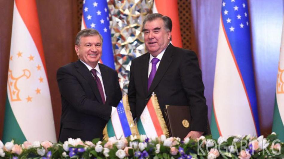 Тажикстан менен Өзбекстан 30 күн визасыз катташуу боюнча макулдашты