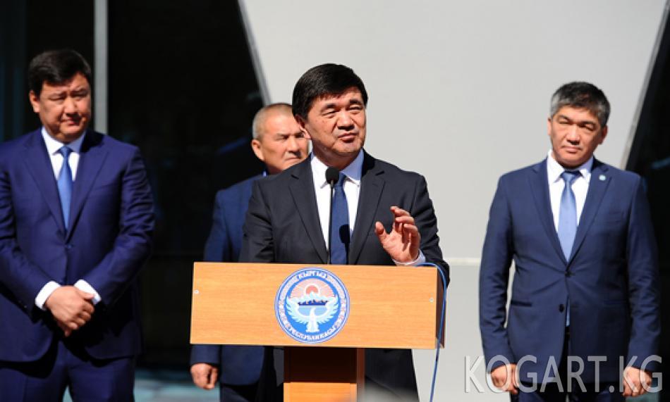 Премьер-министр Абылгазиев «Жалал-Абад» аэропортунун жаңыланган...