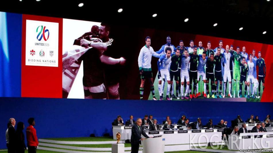 2026-жылы дүйнөлүк футбол чемпионаты АКШ, Канада жана Мексикада өтөт