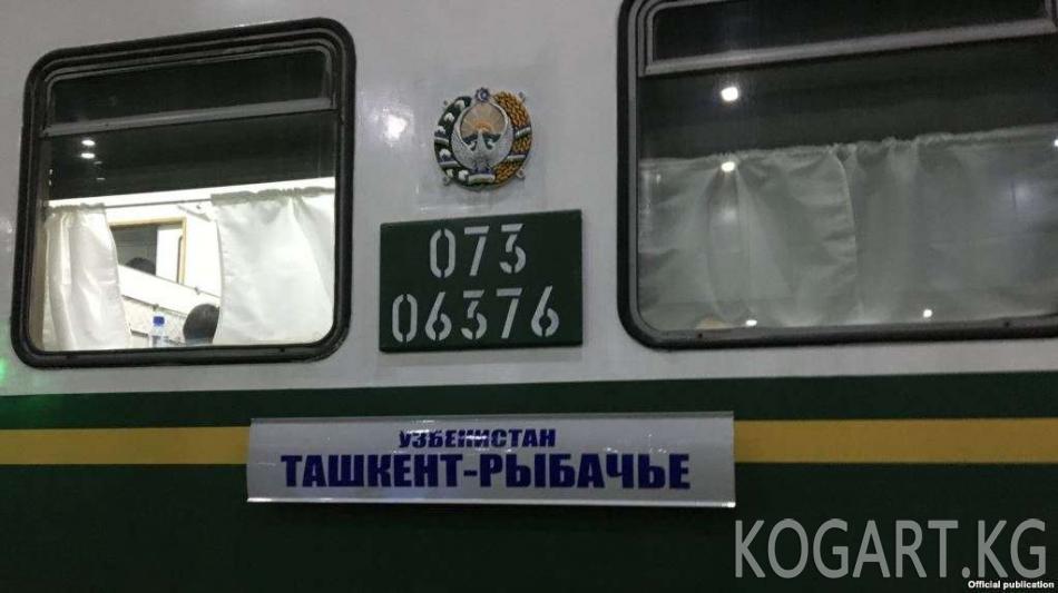 Өзбекстандык туристтер Балыкчыга поезд менен келишти