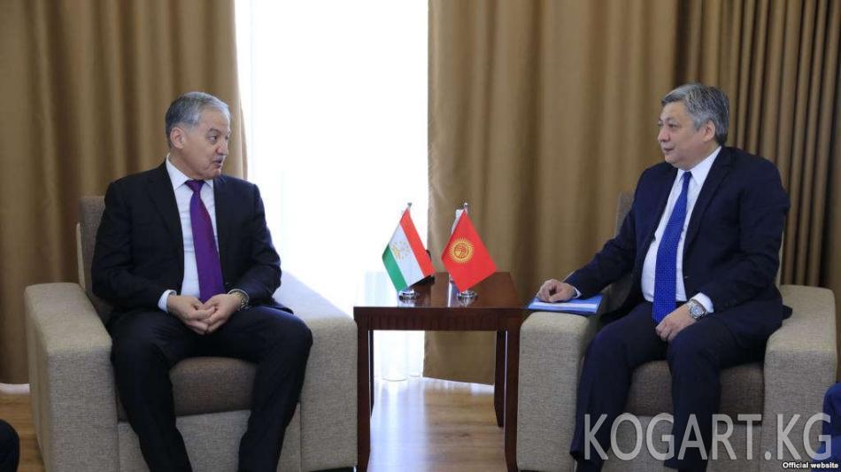 Кыргызстан жана Тажикстан ТИМ башчылары Чолпон-Атада жолугушту