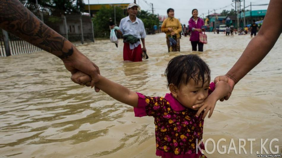 Мьянмада суу ташкындан улам 50 миңден ашык киши үйүн таштап кетти
