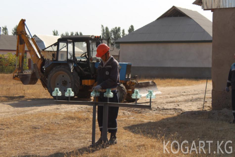 Таш-Көмүр шаарынын энергетиктери күз-кыш айларына карата даярдыктарды улантып жатышат