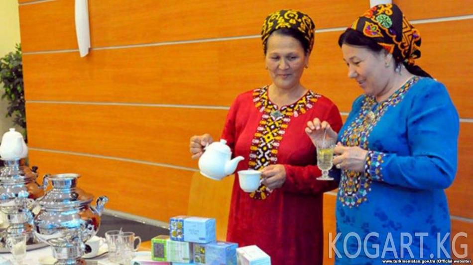 Түркмөнстан Саламаттык сактоо министрлиги дары катары чай ичүүнү сунуштоодо