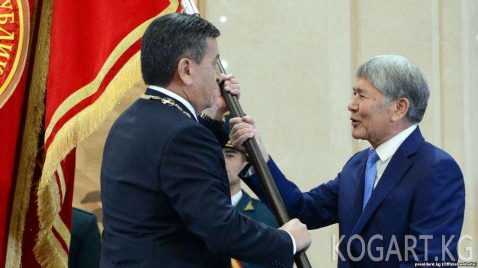 Атамбаев президенттик шайлоодогу каржылоо тууралуу интервью берет
