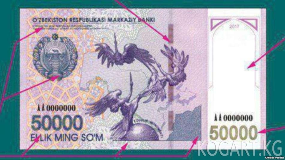 Өзбекстанда 100 миң сумдук банкнот пайда болот