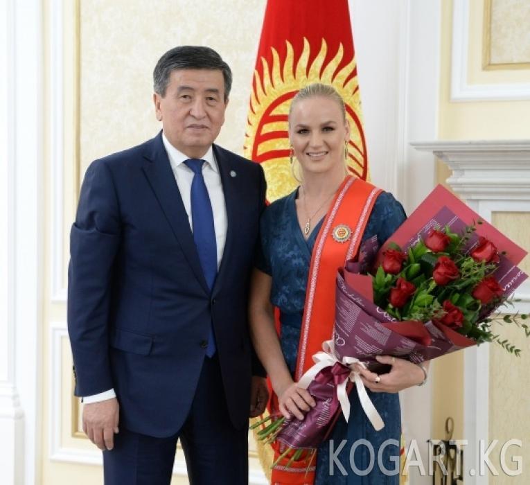 Валентина Шевченко «Даңк» ордени менен сыйланды