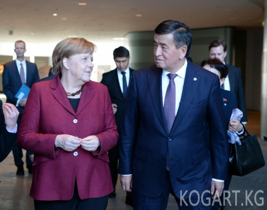 Президент Сооронбай Жээнбеков ГФР Федералдык канцлери Ангела Меркель...