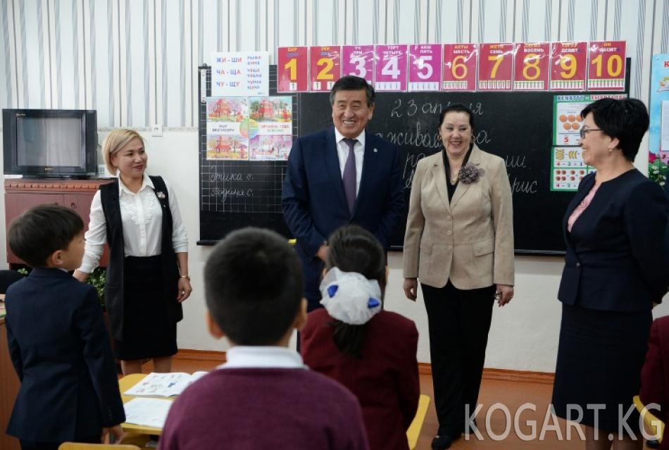 Президент Сокулук районундагы Орок орто мектебинин жана Бишкек...
