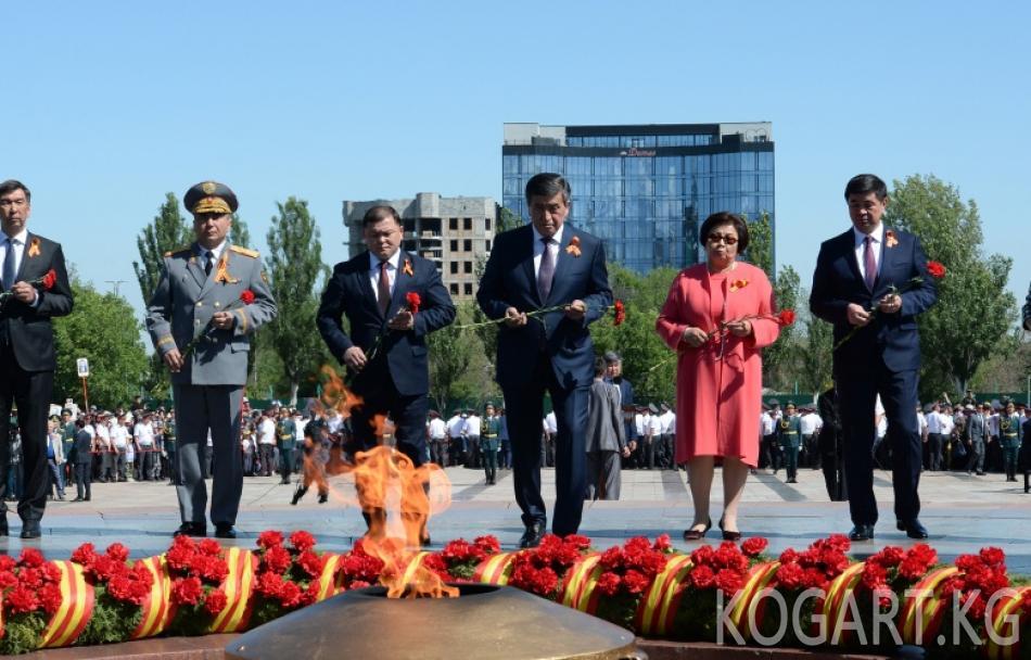 Бишкекте Улуу Ата Мекендик согуштагы Жеңиштин 74 жылдыгына арналган...