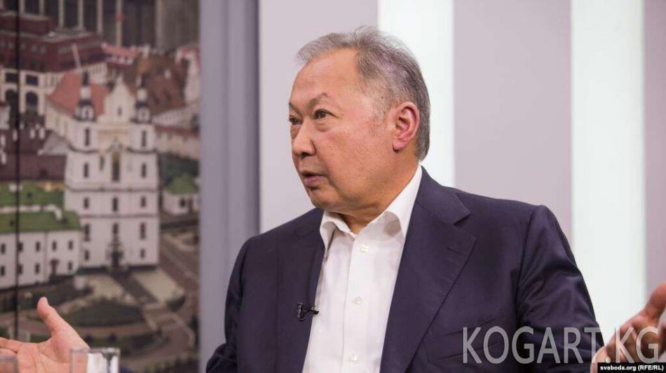 Парламент төрагасы: Бакиевдин Беларуста турушу Кыргызстанды...