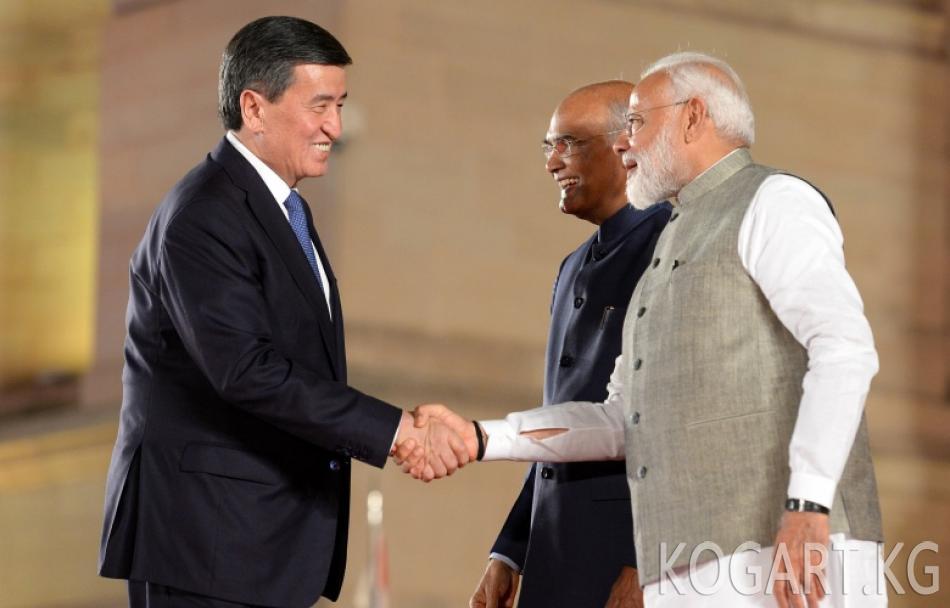 Президент Сооронбай Жээнбеков Индиянын Премьер-министри Нарендра...