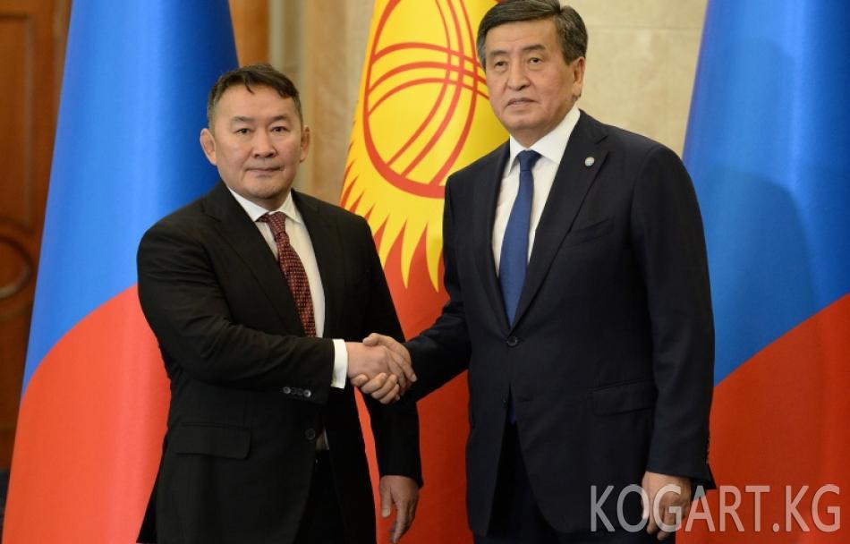 Халтмаагийн Баттулга Сооронбай Жээнбековду Монголияга расмий визит...