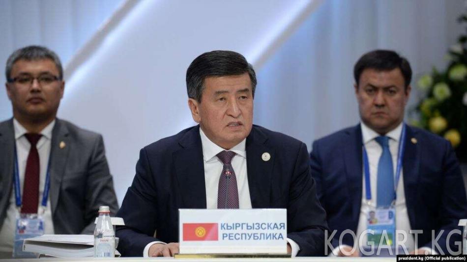 Жээнбеков: Улуттук азчылыктар боюнча маселе - Кытайдын ички иши