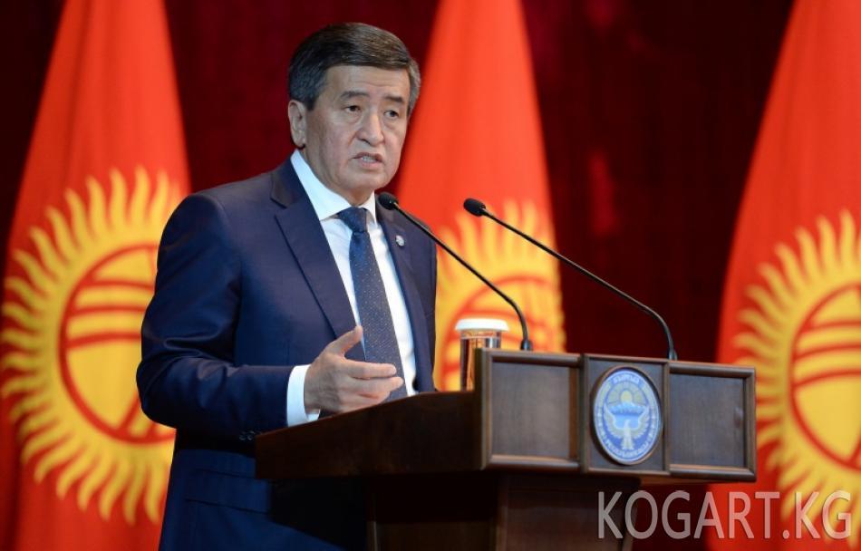 Президент Сооронбай Жээнбеков Баткен районунун жана Баткен шаарынын...