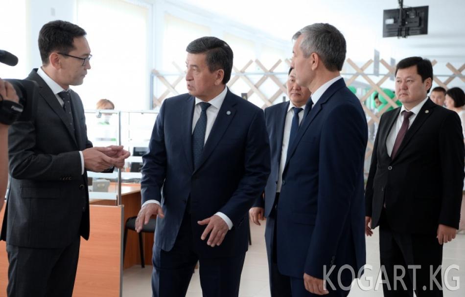 Президент Сооронбай Жээнбеков Баткен шаарындагы Калкты тейлөө...