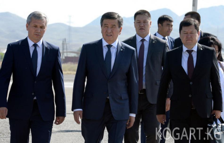 Президент Сооронбай Жээнбеков иш сапары менен Баткен облусунда