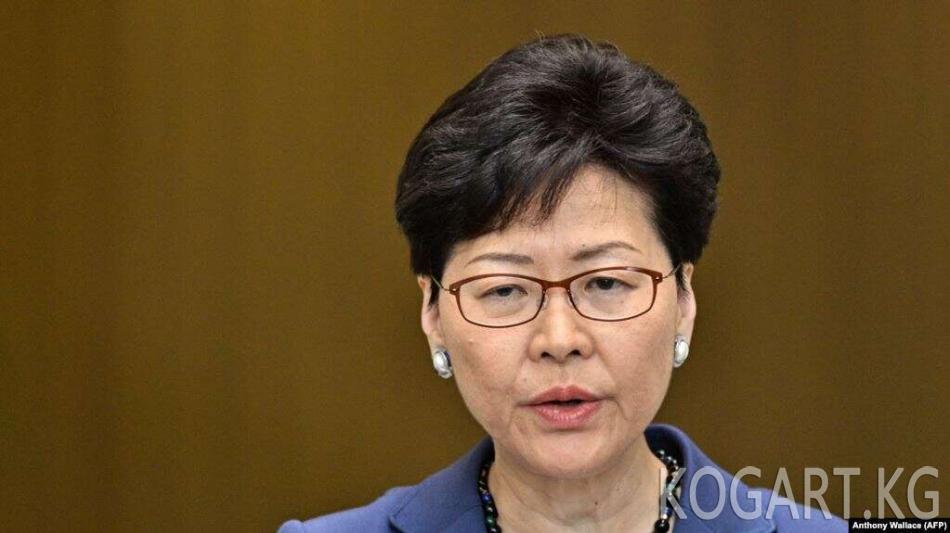 Гонконгдун өкмөт башчысы экстрадиция жөнүндөгү мыйзам ишке ашпай калганын жарыялады