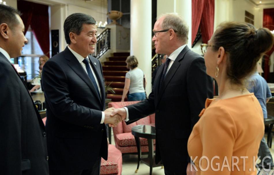 Президент Сооронбай Жээнбеков Швейцариянын ири бизнес өкүлдөрү менен...