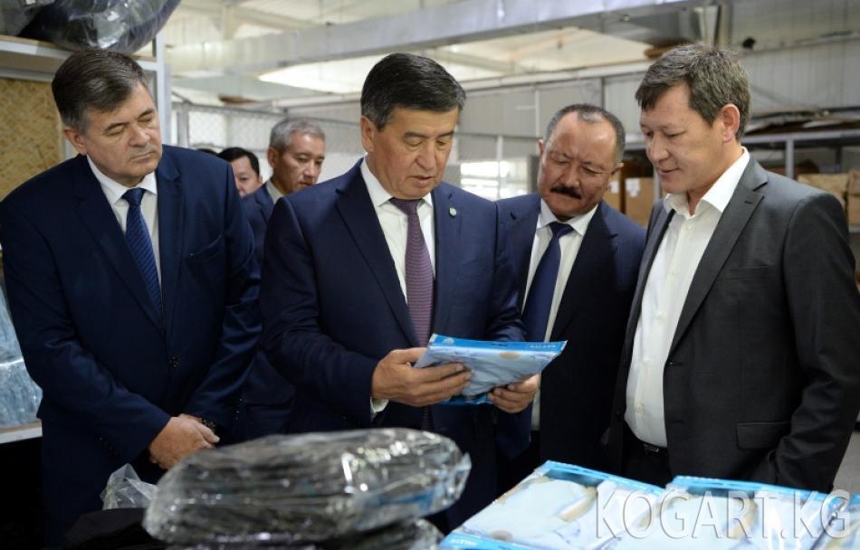 Президент Сооронбай Жээнбеков «Бишкек» Эркин экономикалык аймагына барды