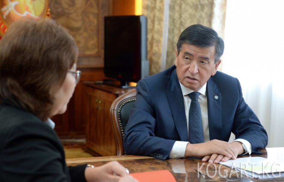 Президент Сооронбай Жээнбеков Судьяларды тандоо боюнча кеңешинин...