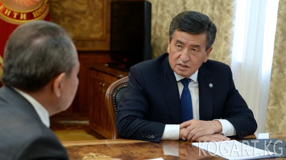 Президент Сооронбай Жээнбеков Мамлекеттик тил боюнча улуттук комиссиянын...