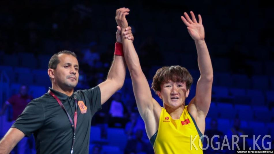 Айсулуу Тыныбекова дүйнө чемпионатынын финалына чыкты
