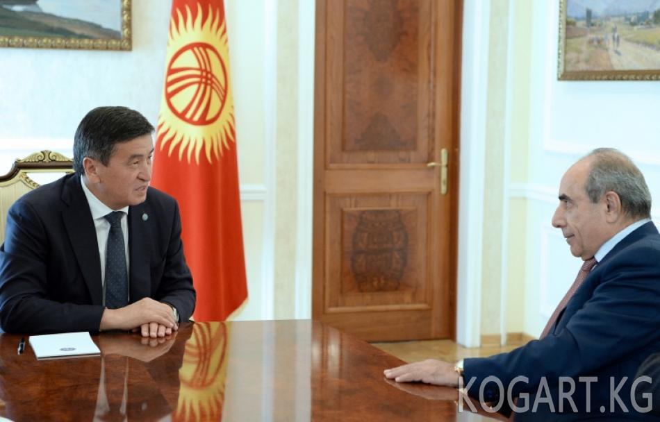Президент Сооронбай Жээнбеков Азербайжандын Премьер-министринин...