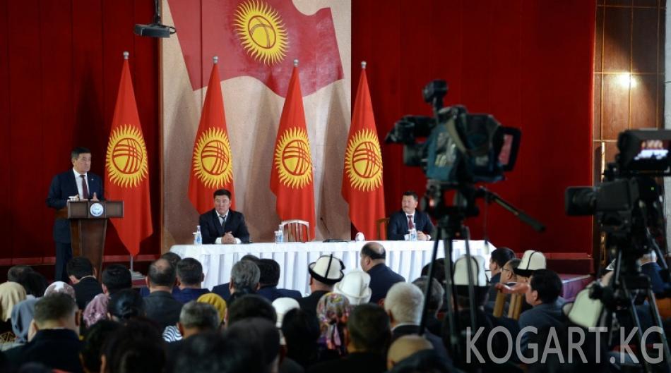 Президент Сооронбай Жээнбеков Жалал-Абад облусунун Токтогул районуна...