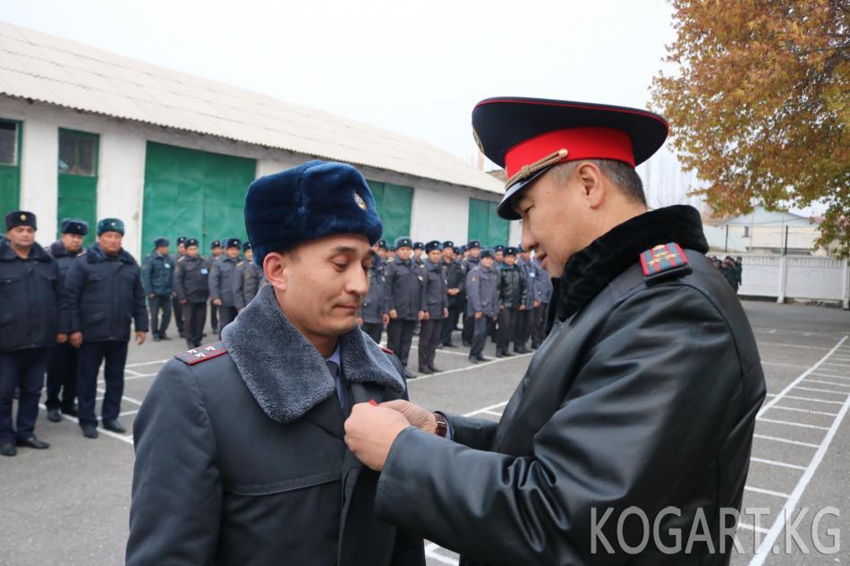 Жалал-Абад ОИИБде кызматта жана спортто ийгиликке жеткендерге медалдар...