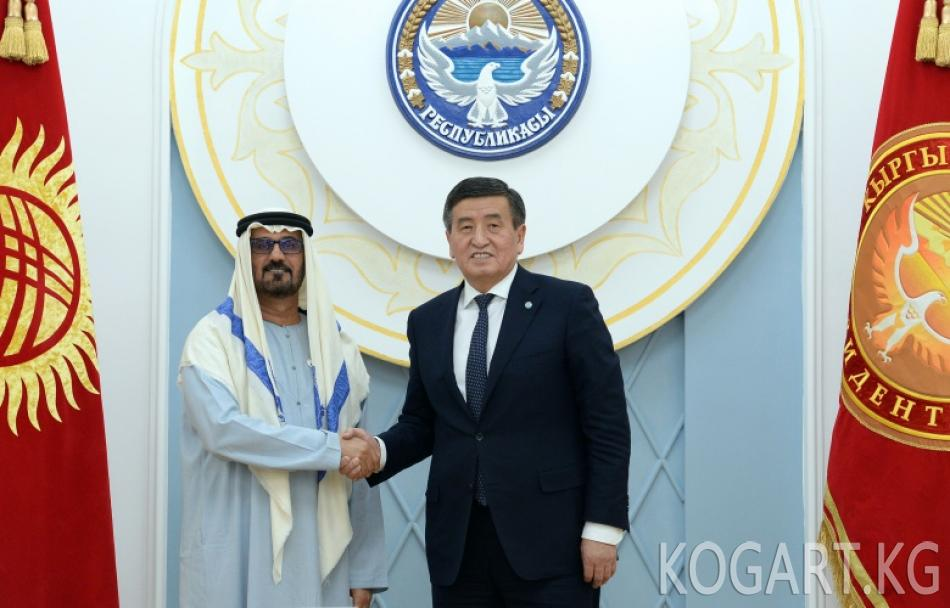 Президент Сооронбай Жээнбеков БАЭнин билим берүү министри Хуссейн...