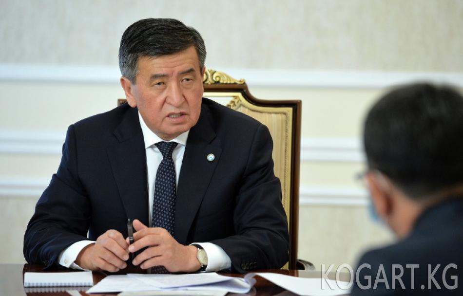 Президент Сооронбай Жээнбеков Кыргыз Республикасынын Судьялар кеңешинин төрагасы Нурлан Атаназаровду кабыл алды