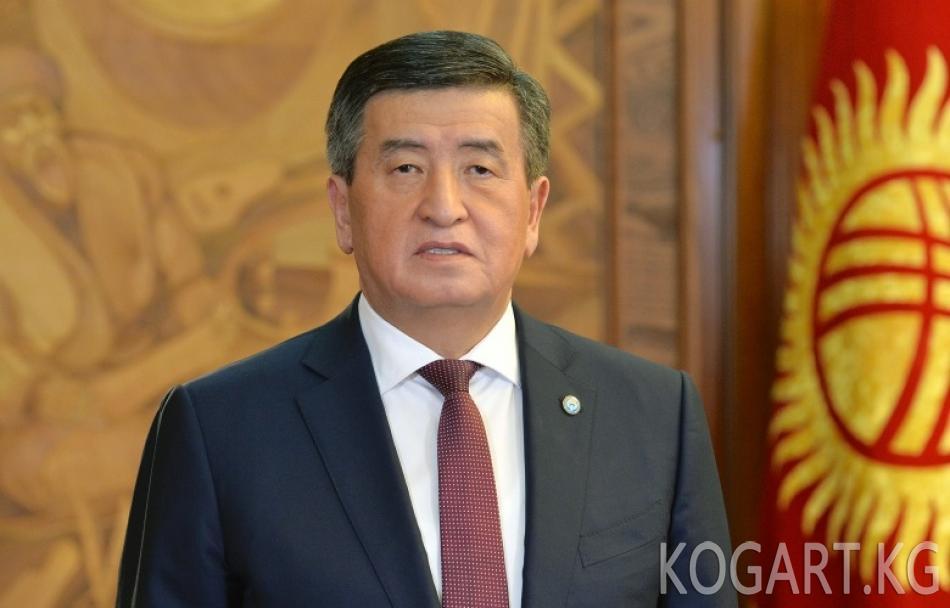 Президент Сооронбай Жээнбеков Кыргыз Республикасынын жеңил өнөр жай...