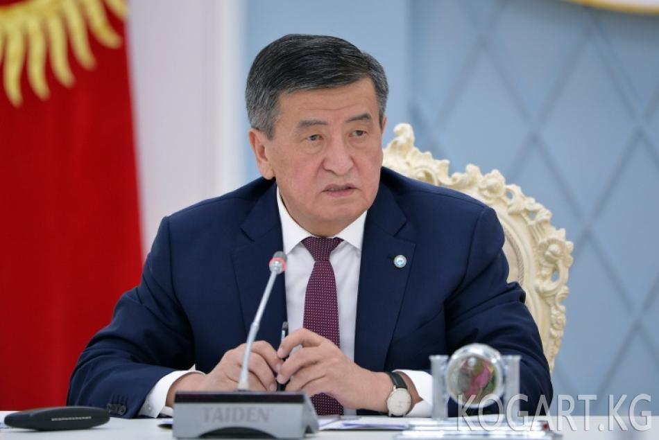 Президент Сооронбай Жээнбеков өлкөнүн темир жол тармагын өнүктүрүү...