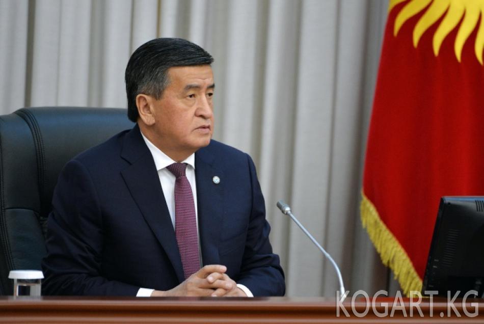 Президент Сооронбай Жээнбеков КР Жогорку Кеңешинин жыйынына катышат
