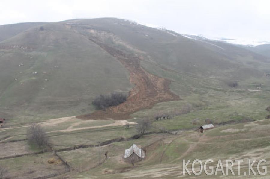Кыргызстан боюнча жалпы 5 миңден ашык жер көчкү катталган (ФОТО)