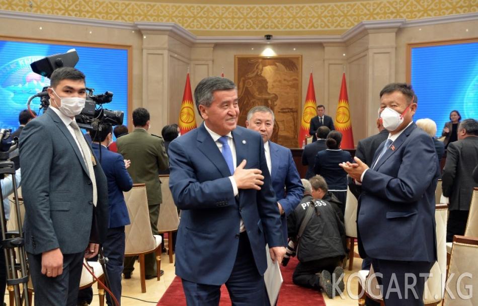 Сооронбай Жээнбеков колдоо көрсөткөндүгү үчүн кыргызстандыктарга ыраазычылык билдирди