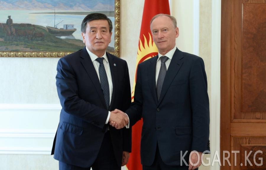 Президент Сооронбай Жээнбеков Россиянын Коопсуздук кеңешинин...