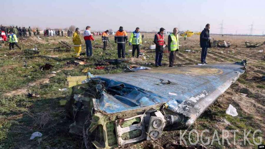 Иранда украин учагы эки ракета менен атып түшүрүлгөн